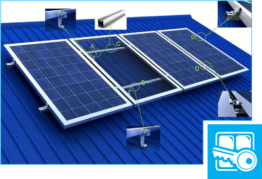 установка солнечных батарей на крышу