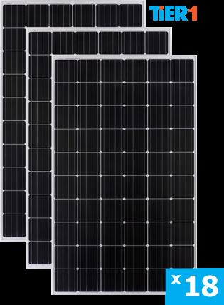 солнечные монокристаллические панели 18 штук
