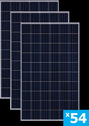 солнечные панели 54 штуки