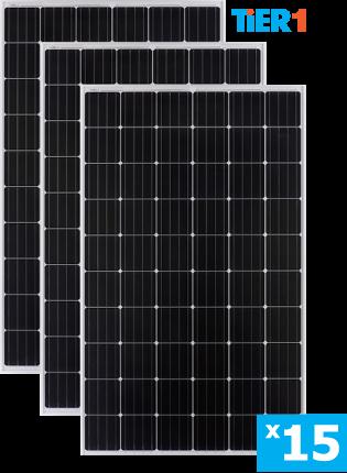 солнечные монокристаллические панели 15 штук