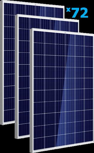 солнечные панели 72 штуки