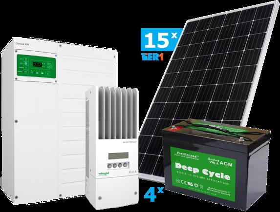 Солнечная гибридная электростанция Schneider 6.8 кВт