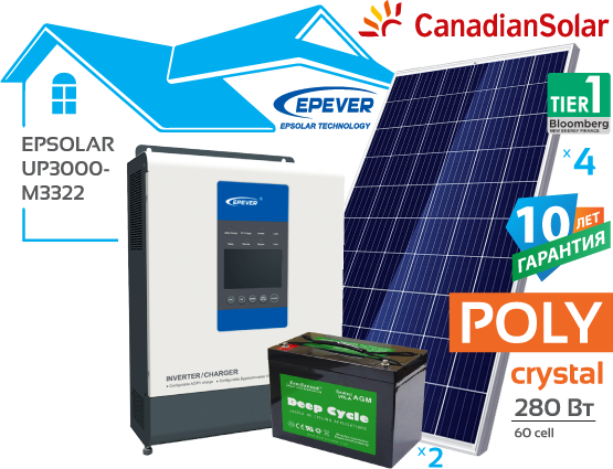 Сонячна автономна електростанція EpSolar 3 кВт