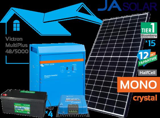 Солнечная гибридная электростанция Victron 5 кВт