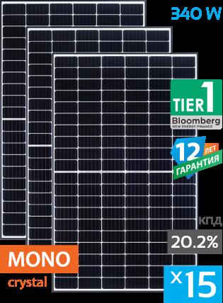 сонячні панелі 15 штук
