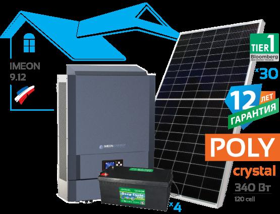 Сонячна гібридна електростанція IMEON 10 кВт