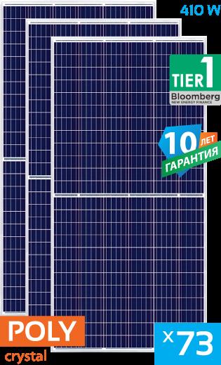 солнечные поликристаллические панели Tier1 73 штуки