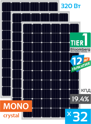 сонячні монокристалічні панелі 32 штуки