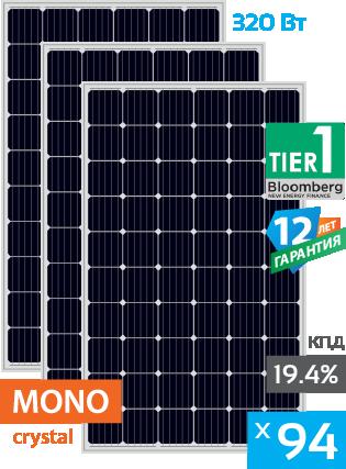 солнечные монокристаллические панели 94 штуки