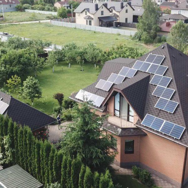 Завершенный монтаж солнечной станции на 10 кВт