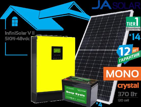 Солнечная гибридная электростанция InfiniSolar 5 кВт