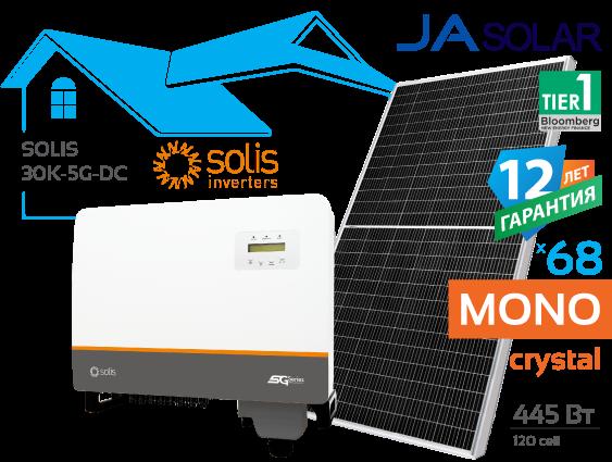 Сонячна електростанція Solis 30 кВт
