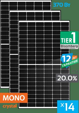 сонячні монокристалічні панелі 14 штук