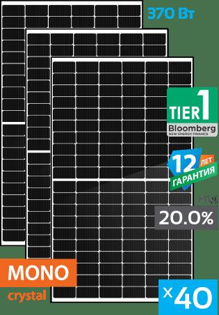солнечные монокристаллические панели 40 штук