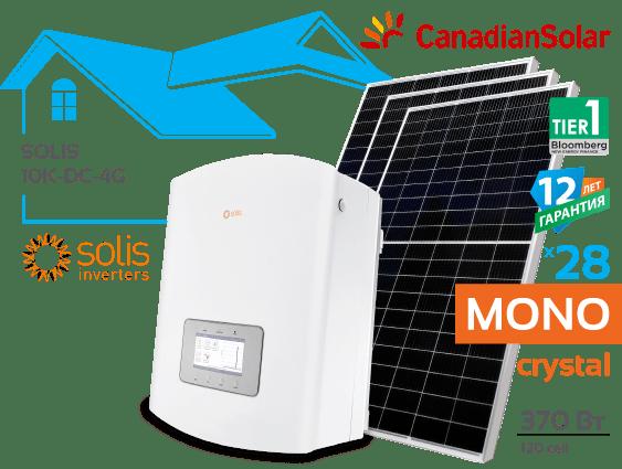 Солнечная электростанция Solis 10 кВт