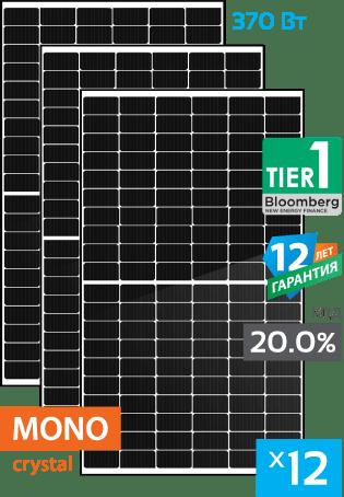 сонячні монокристалічні панелі 12 штук