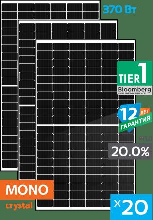 сонячні монокристалічні панелі 20 штук