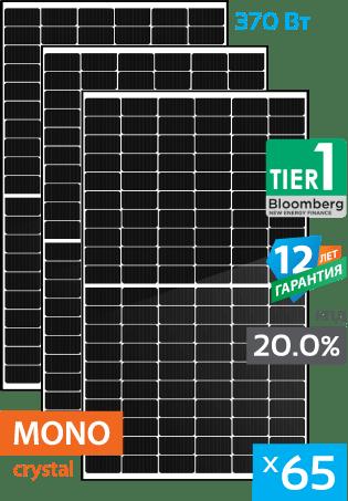 сонячні монокристалічні панелі 65 штук