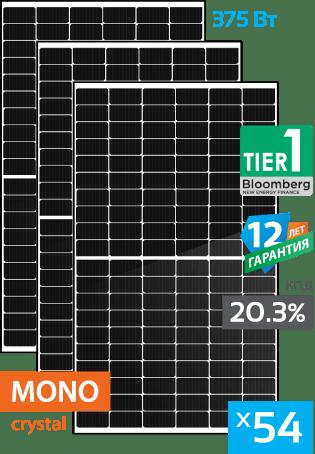 солнечные монокристаллические панели 54 штук