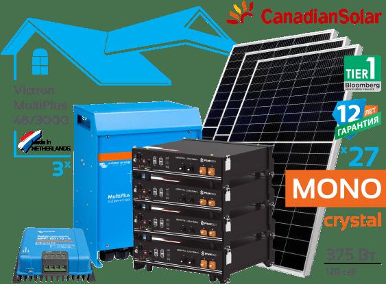 Солнечная гибридная электростанция Victron 10 кВт